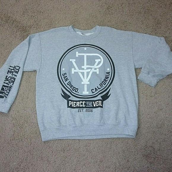 Gildan Tops - Pierce the Veil Sweatshirt San Diego CA Gray L